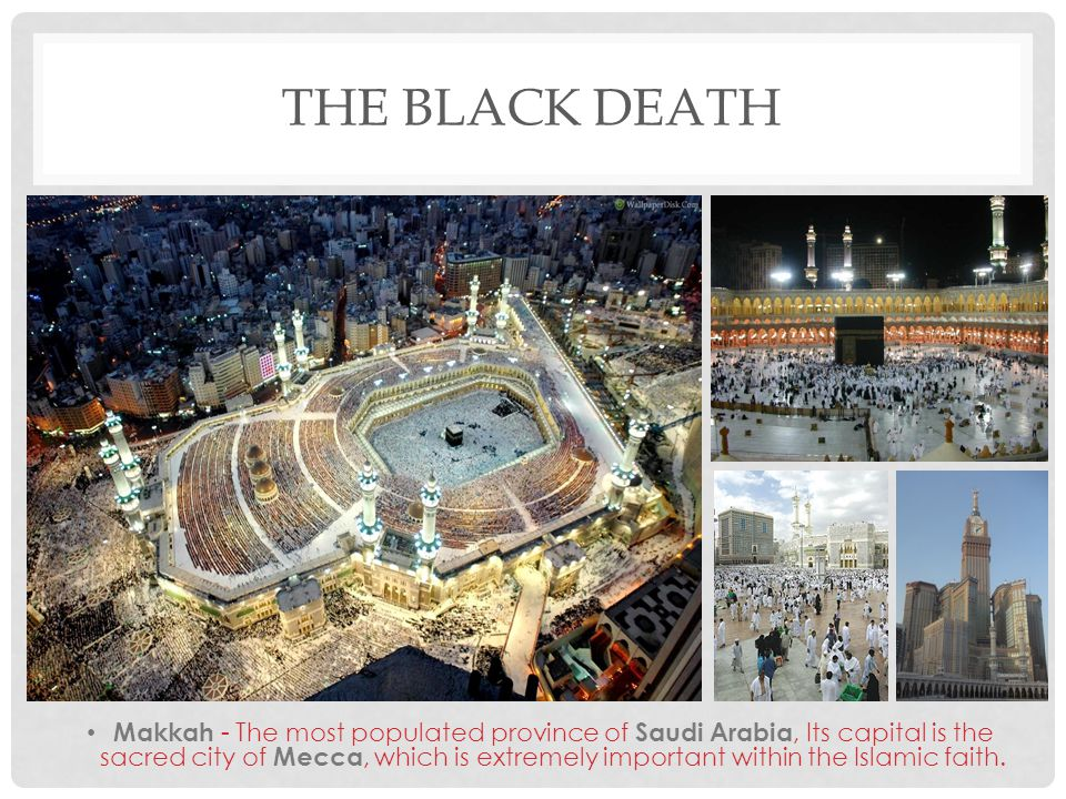 THE BLACK DEATH Makkah - The most populated province of Saudi Arabia, Its capital is the sacred city of Mecca, which is extremely important within the