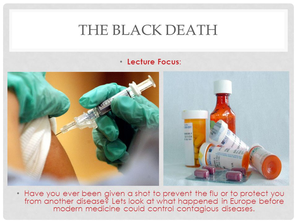 THE BLACK DEATH The Middle Ages in Europe reached a high point during the 1200's.