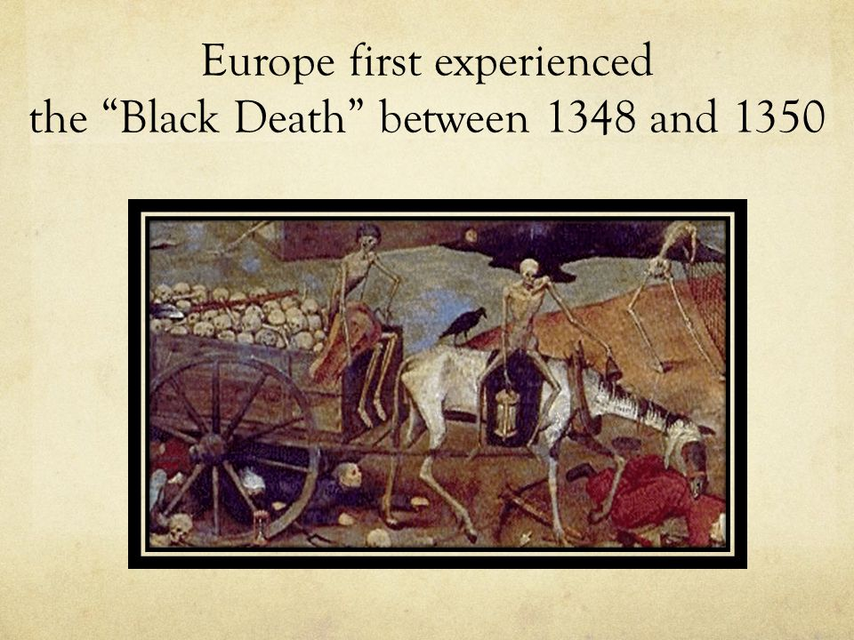 """Europe first experienced the """"Black Death"""" between 1348 and 1350"""