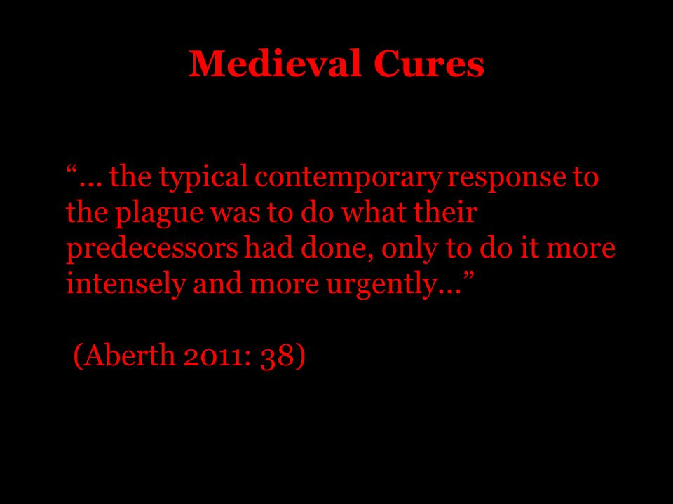 Medieval Cures ...