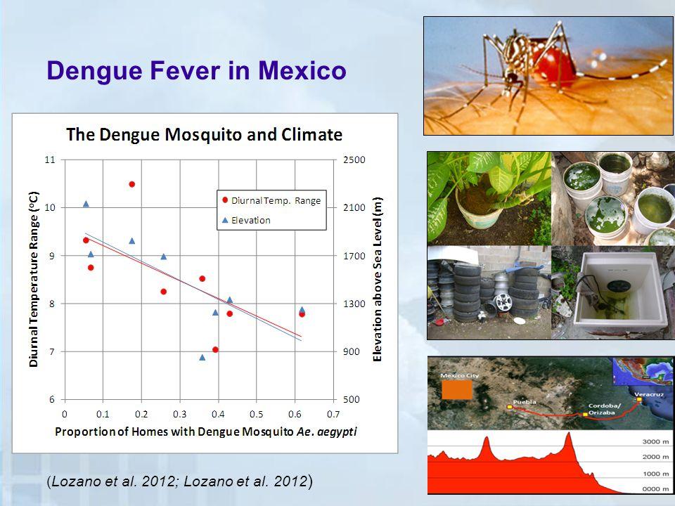 Dengue Fever in Mexico (Lozano et al. 2012; Lozano et al. 2012 )