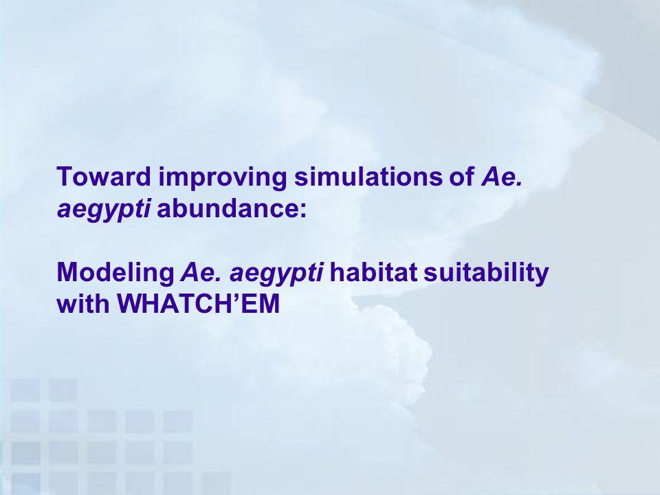 Toward improving simulations of Ae. aegypti abundance: Modeling Ae.