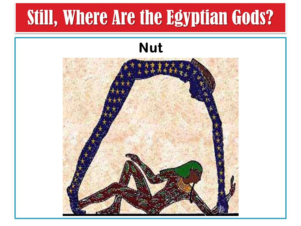 Nut Still, Where Are the Egyptian Gods