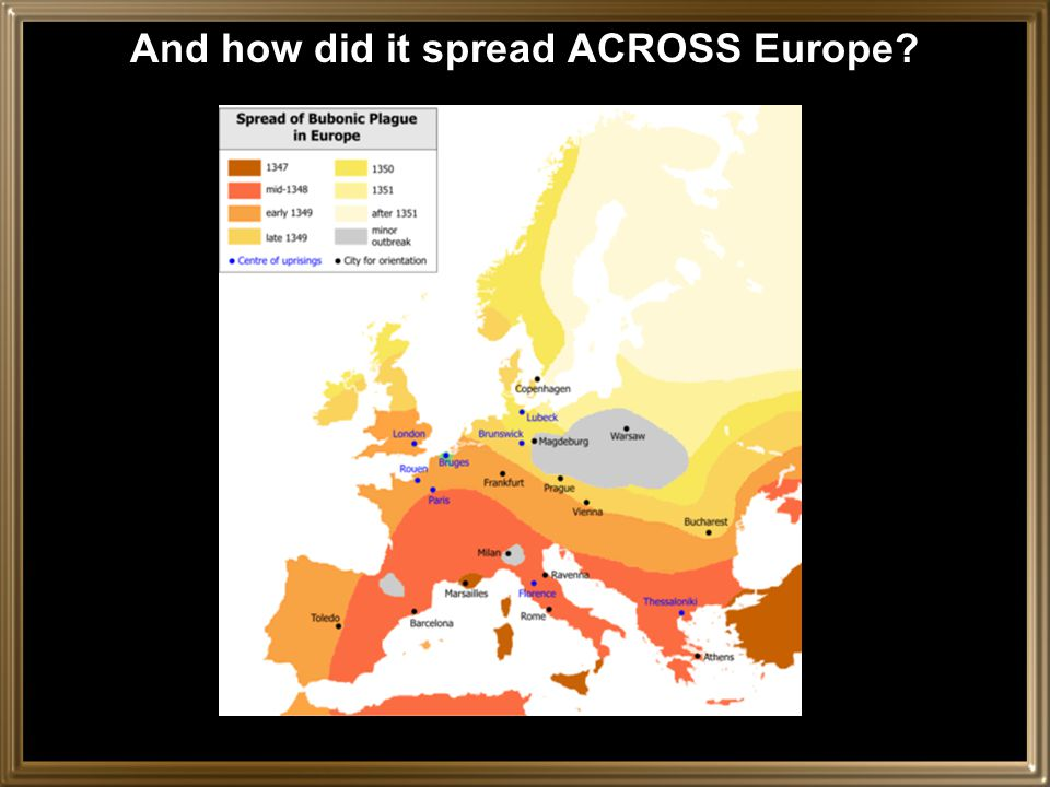And how did it spread ACROSS Europe