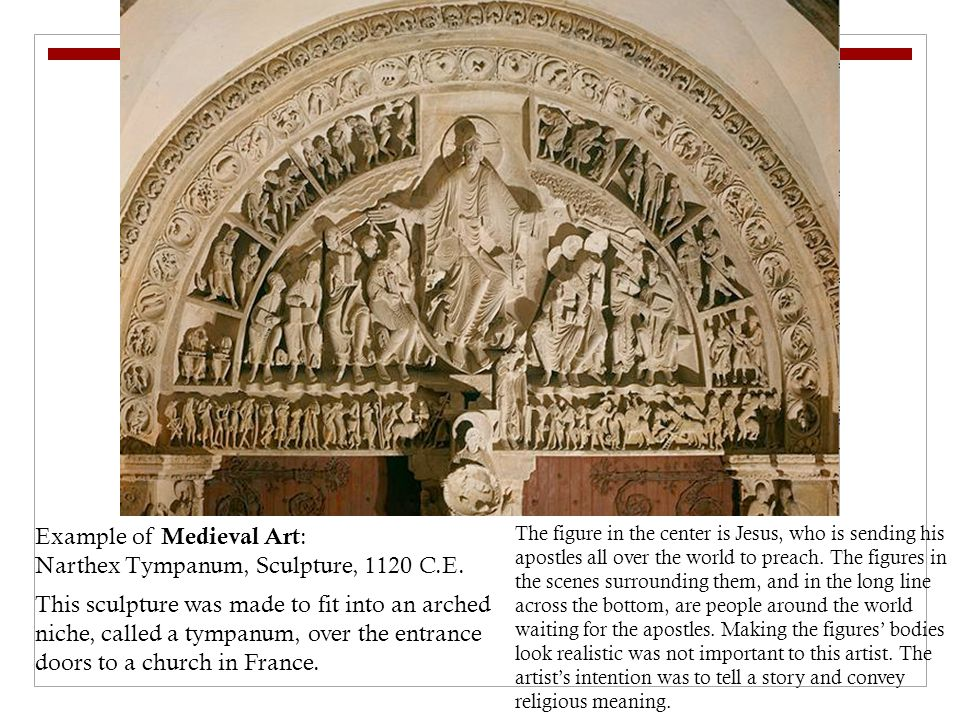 Example of Medieval Art : Narthex Tympanum, Sculpture, 1120 C.E.
