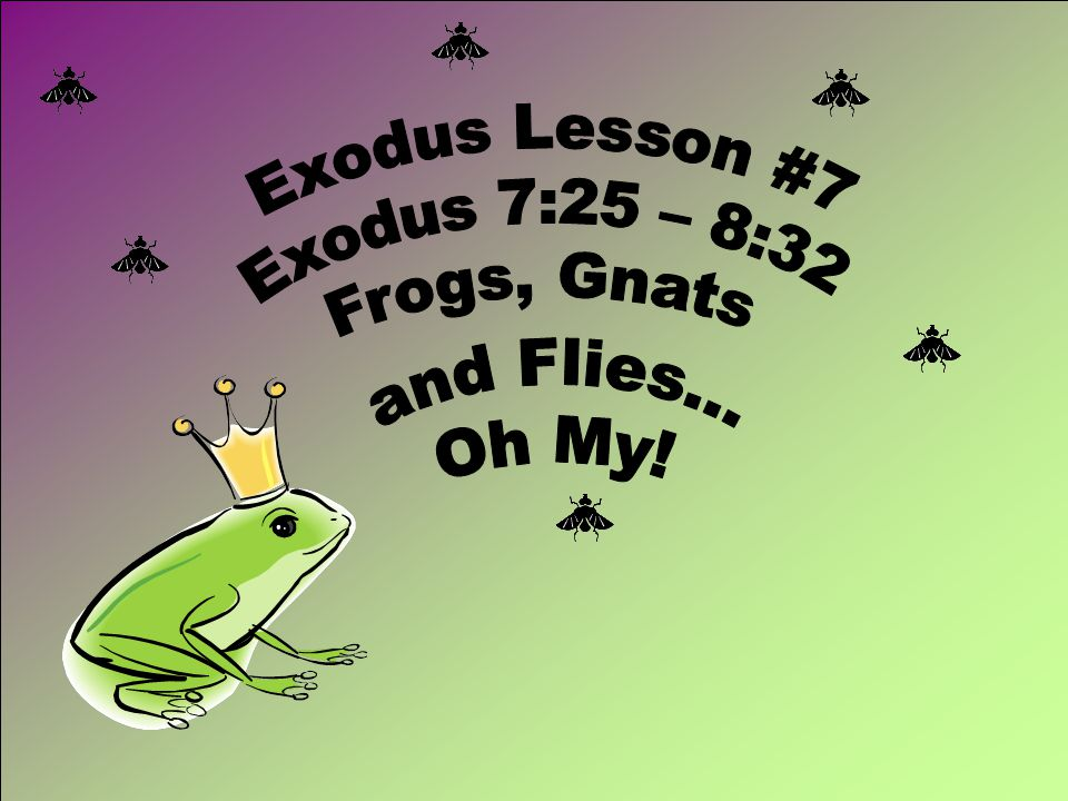 The Plague of Frogs Exodus 7:25-8:15