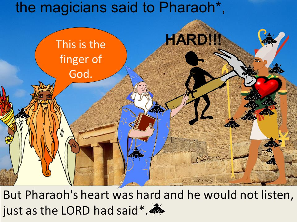the magicians said to Pharaoh*, This is the finger of God.