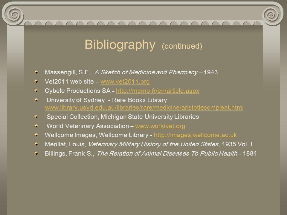 Bibliography (continued) Massengill, S.E,.