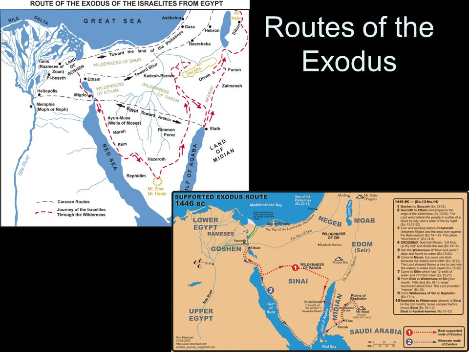 Routes of the Exodus