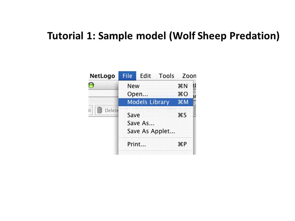 Tutorial 1: Sample model (Wolf Sheep Predation)