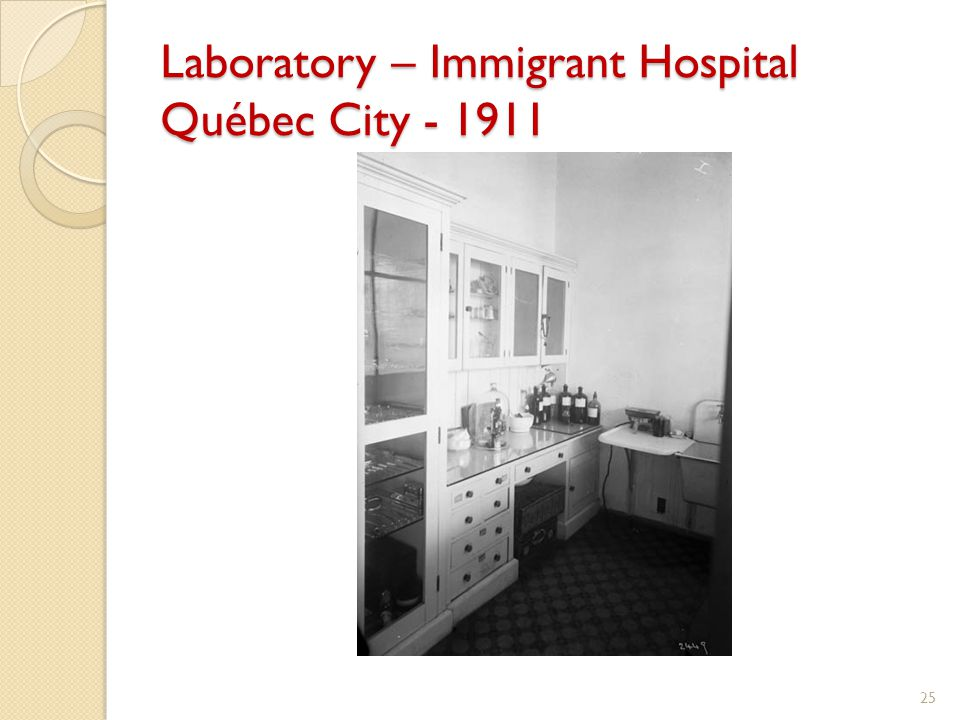 Laboratory – Immigrant Hospital Québec City - 1911 25