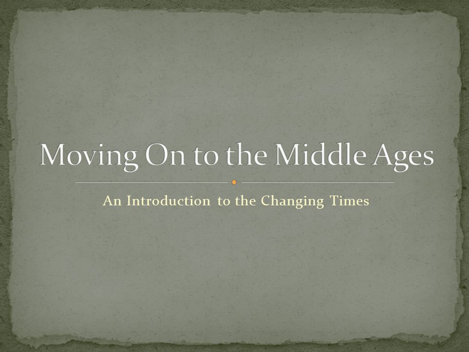An Introduction to the Changing Times