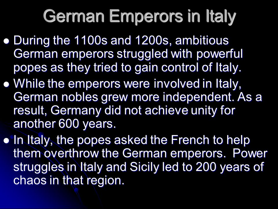 The Struggle Over Investiture The Holy Roman emperors and other monarchs often appointed the Church officials within their realm. This practice was kn