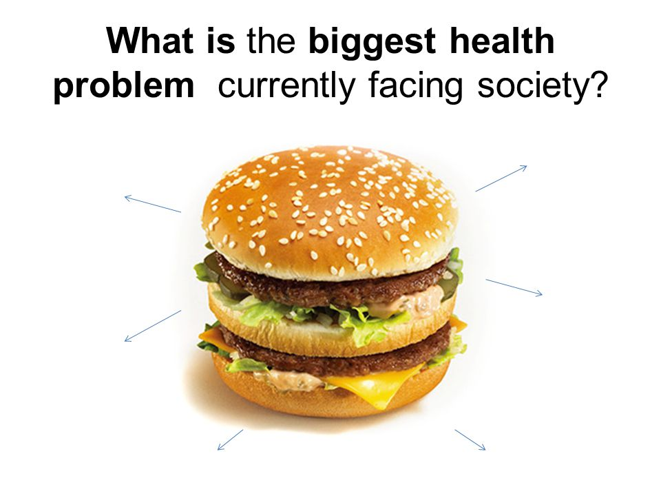What is the biggest health problem currently facing society?
