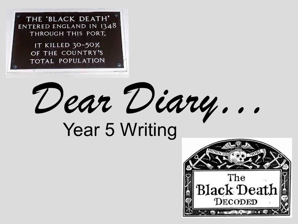 Dear Diary… Year 5 Writing