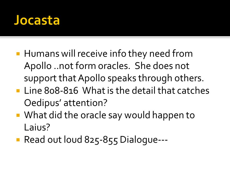  Humans will receive info they need from Apollo..not form oracles.