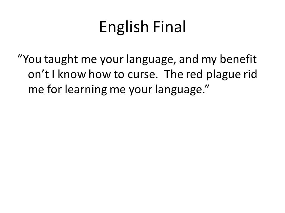 English Final What are some of the main threads of the class conversation.
