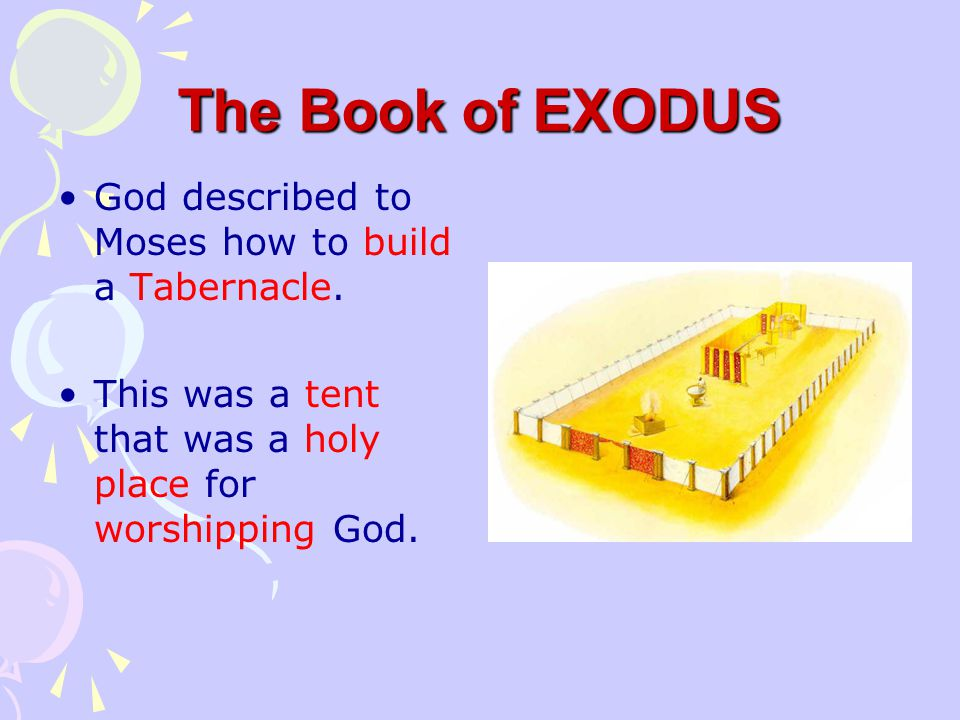 "The Book of EXODUS God gave Moses the ""Ten Commandments"" and the people promised to obey God."