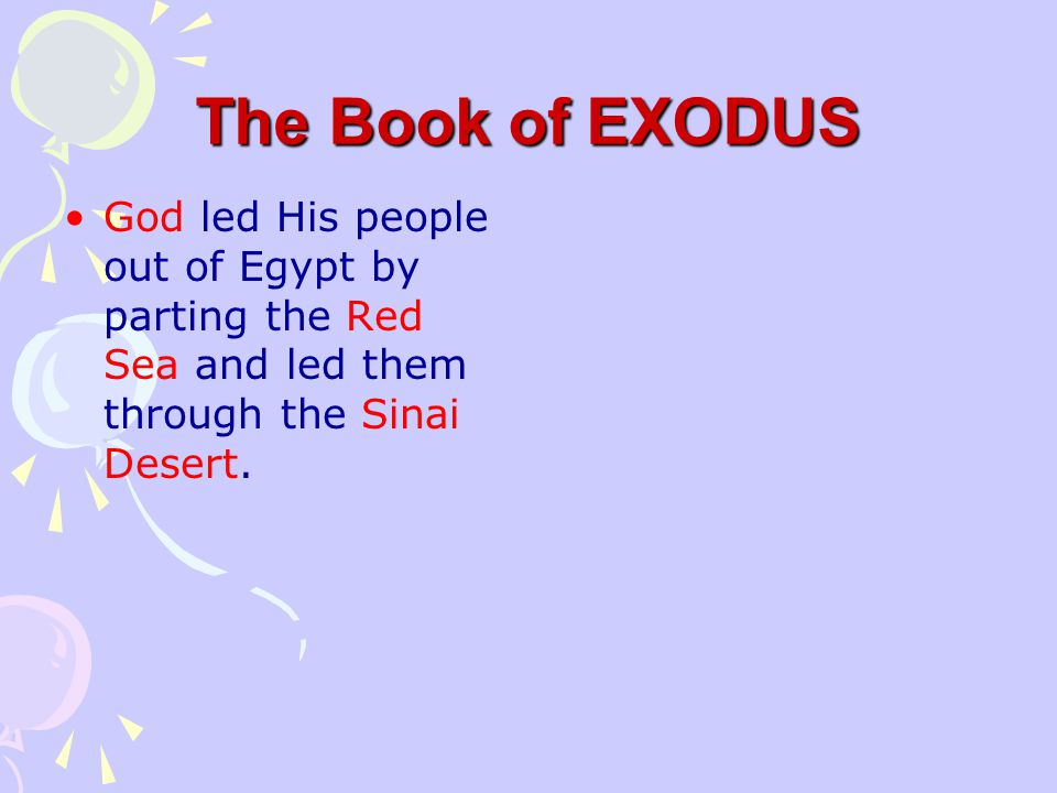 The Book of EXODUS The last plague was taking the lives of all the first born in Egypt, but the Israelites were spared. Finally, Pharaoh agreed to let