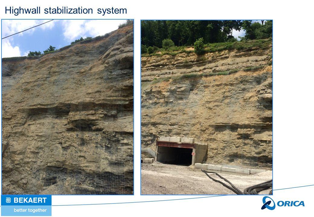 Highwall stabilization system