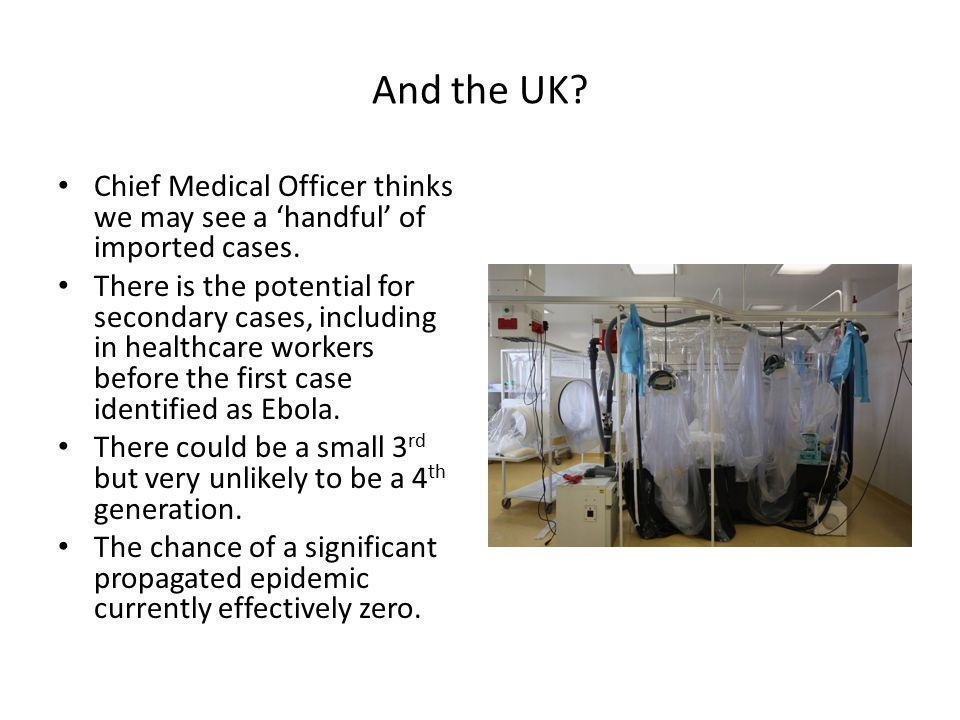 And the UK. Chief Medical Officer thinks we may see a 'handful' of imported cases.