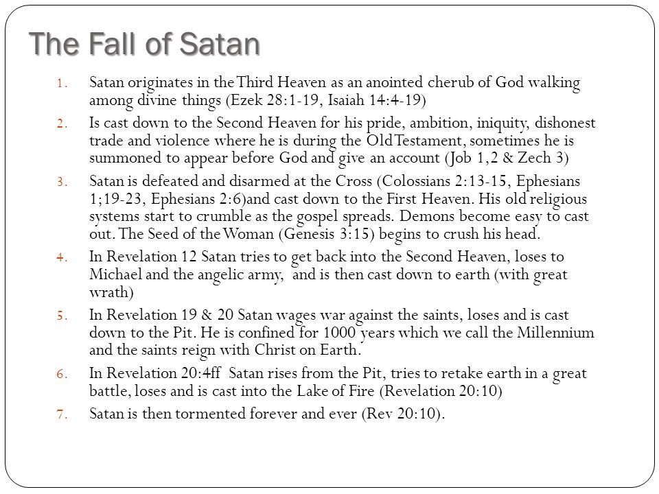 Deceiving Spirits Doctrines of Demons: 2 Timothy 4:1-5 False religions are from demons: 1 Cor 10:20 Three spirits like frogs: Rev 16:13 Lying spirits: 1 Kings 22:22,23 Channeling, false prophecy, false doctrines, spirits promising sensual experiences etc Mediums, witchcraft etc All spirits must be discerned according to the tests in Scripture.