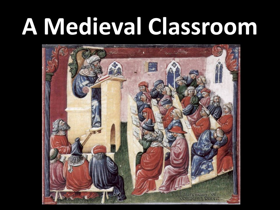 A Medieval Classroom