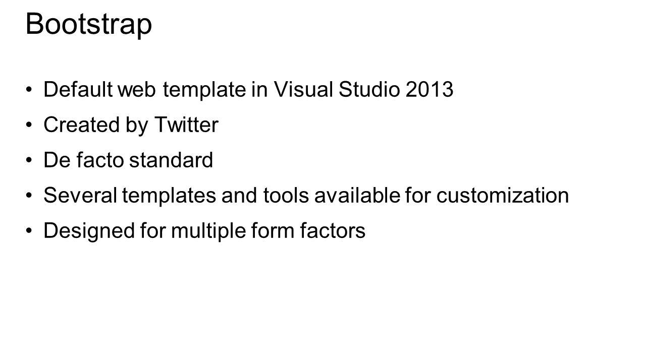 DEMO Creating a Web Project in Visual Studio 2013