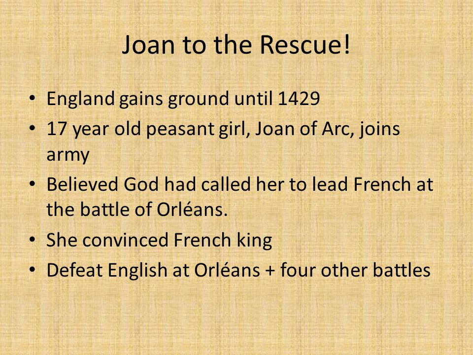 Joan to the Rescue.