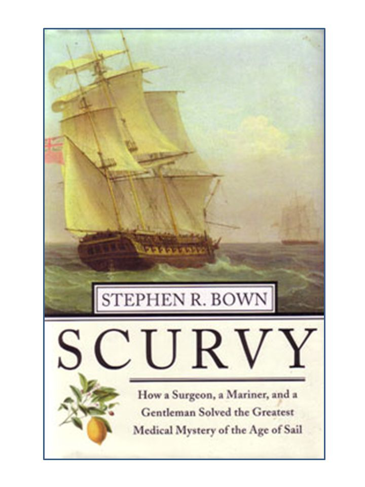 Like Bown, he equates solving the mystery of scurvy to solving the longitude problem.