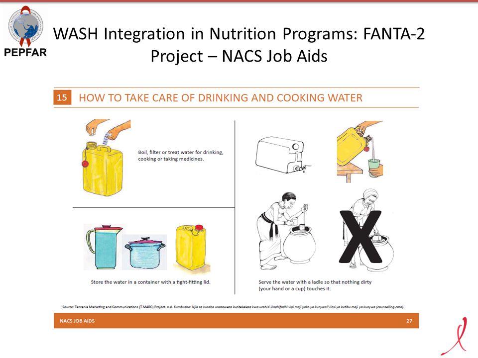 WASH Integration in Nutrition Programs: FANTA-2 Project – NACS Job Aids