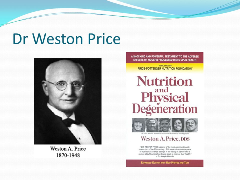 Dr Weston Price
