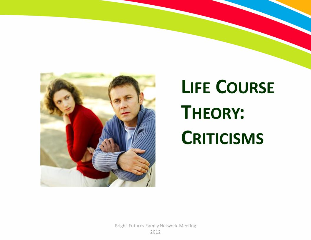 Bright Futures Family Network Meeting 2012 L IFE C OURSE T HEORY : C RITICISMS
