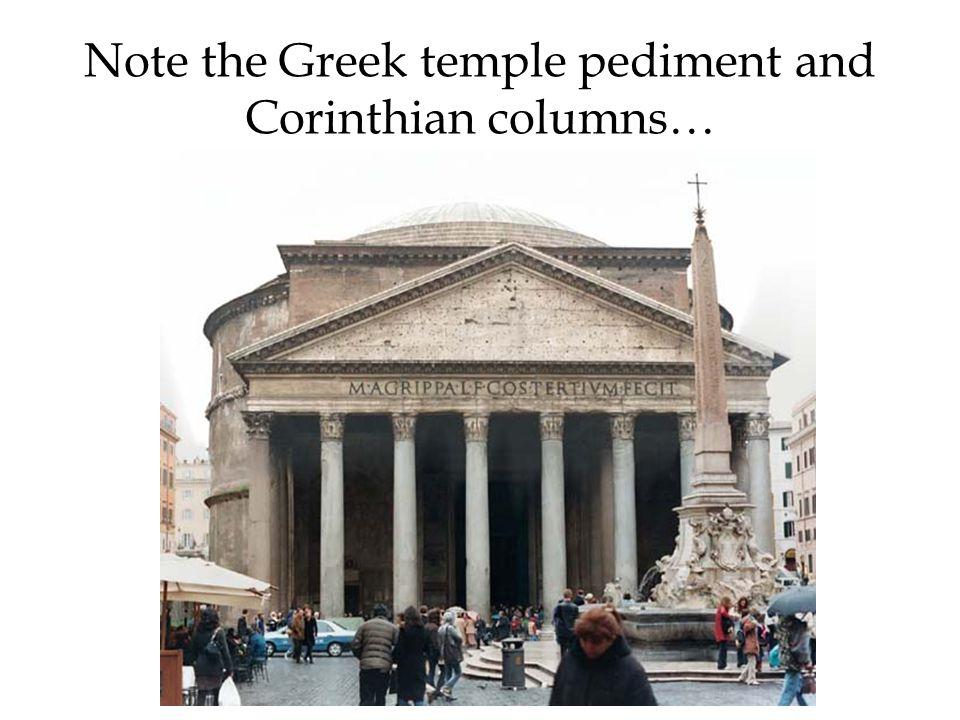 Note the Greek temple pediment and Corinthian columns…