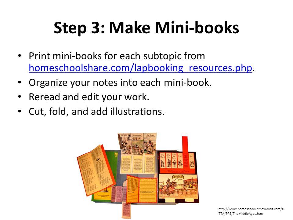 Step 4: Make Lapbook Organize and glue mini-books into a folder to make your lapbook.