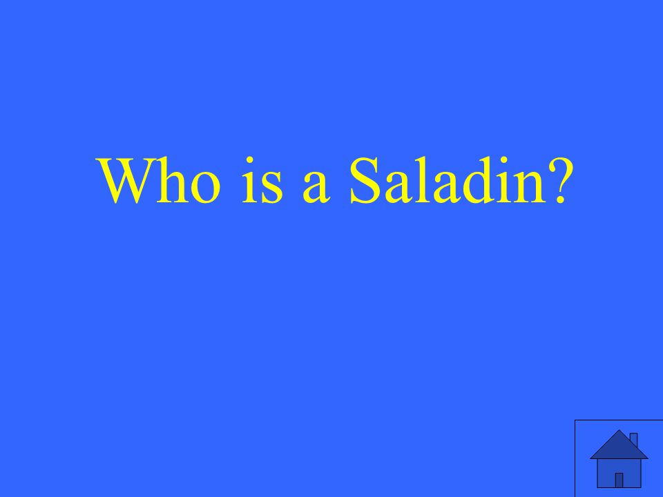 Who is a Saladin?
