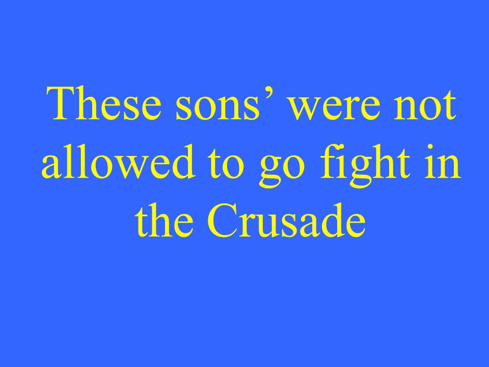 What are 1 st (oldest) sons'?