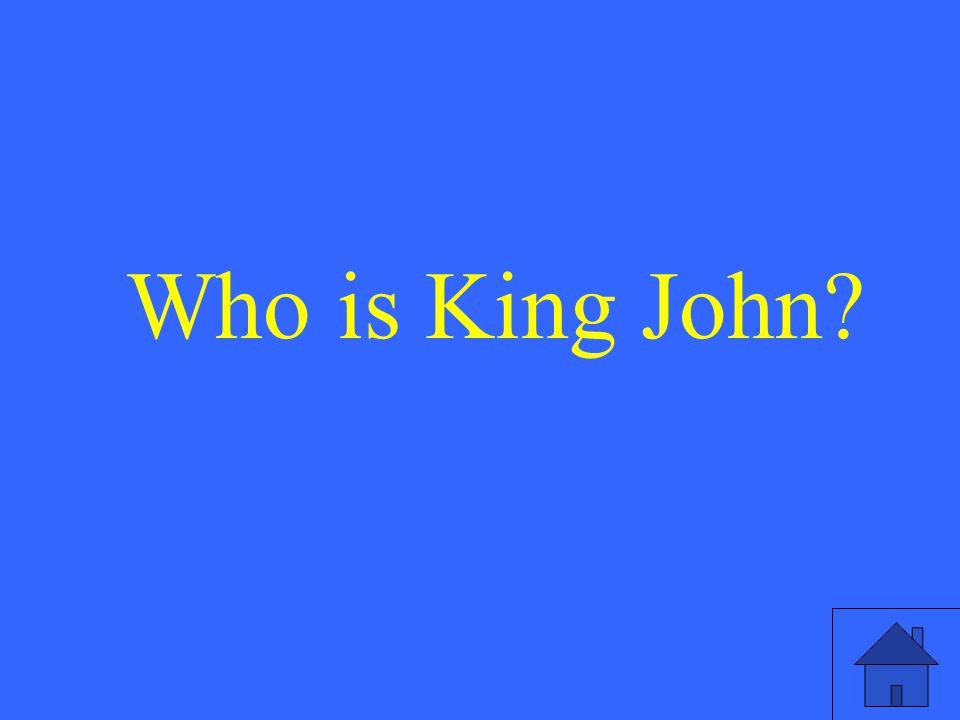 Who is King John