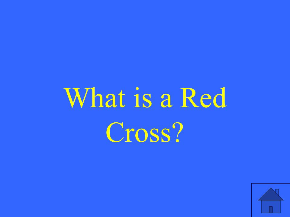 What is a Red Cross?