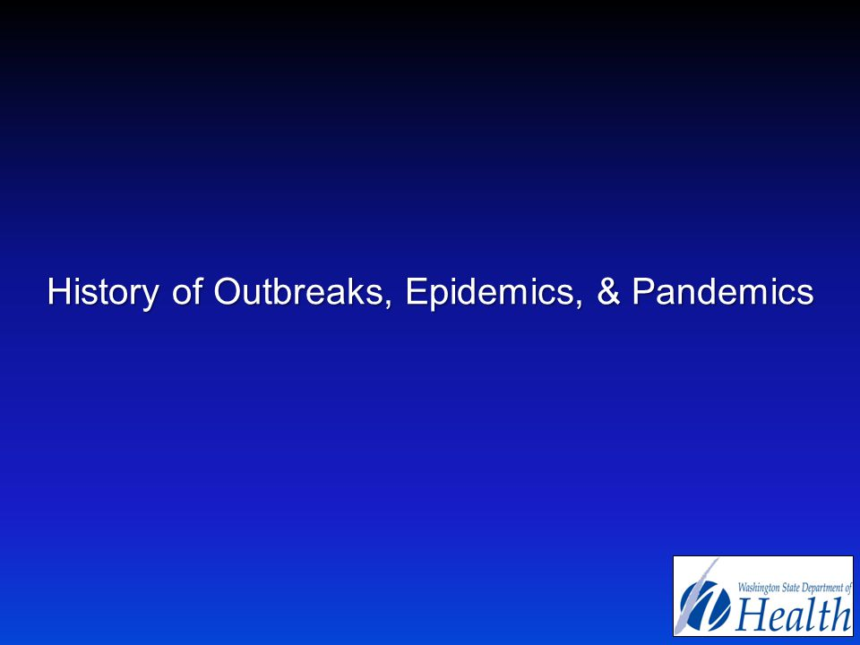 History of Outbreaks, Epidemics, & Pandemics