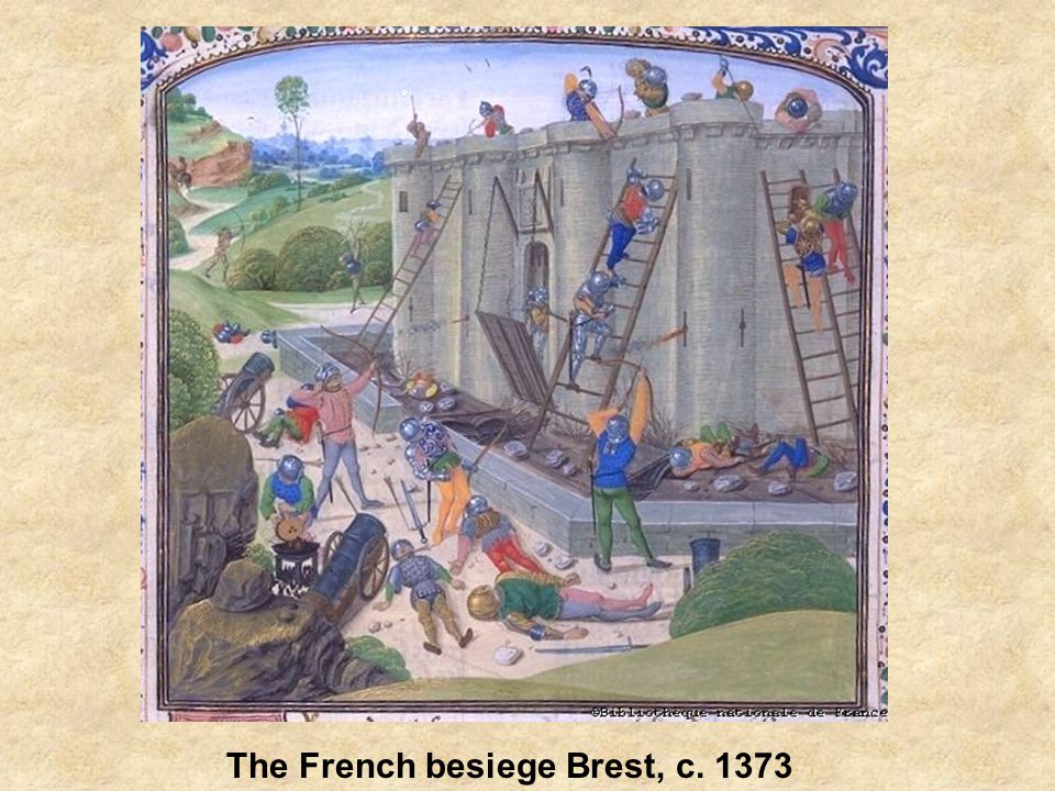 The French besiege Brest, c. 1373