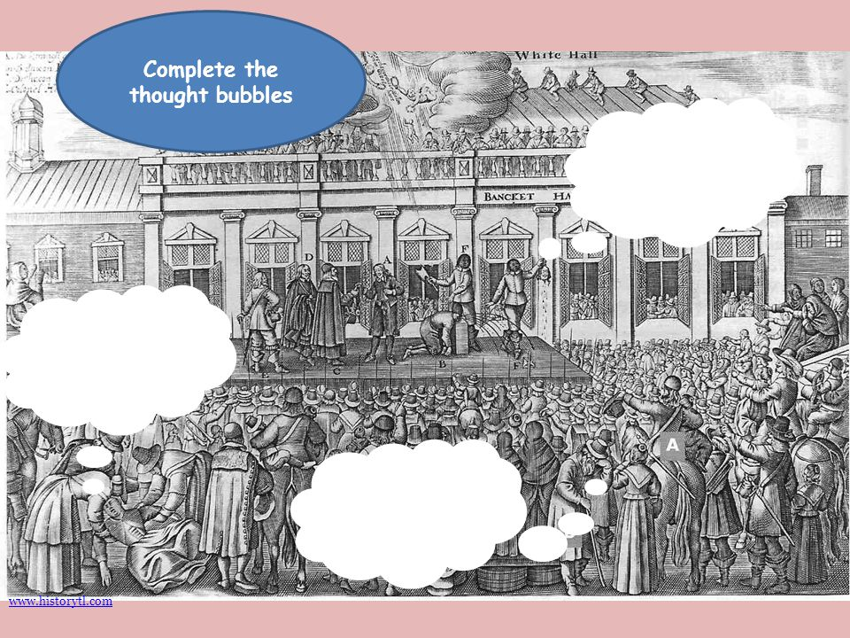 Complete the thought bubbles www.historytl.com