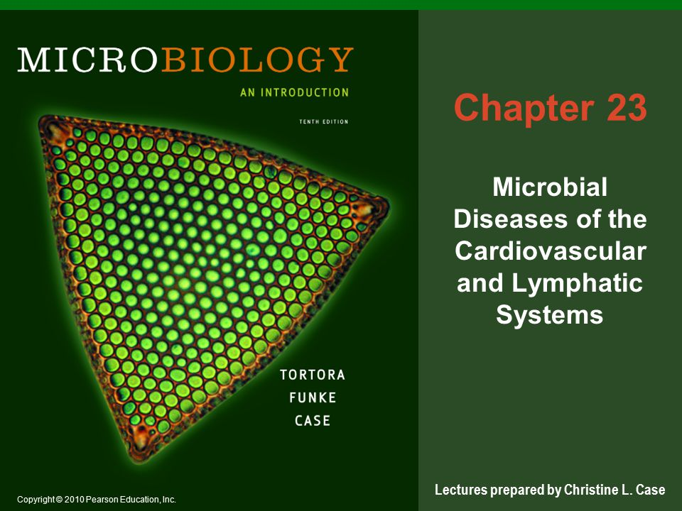 Copyright © 2010 Pearson Education, Inc. Lectures prepared by Christine L. Case Chapter 23 Microbial Diseases of the Cardiovascular and Lymphatic Syst