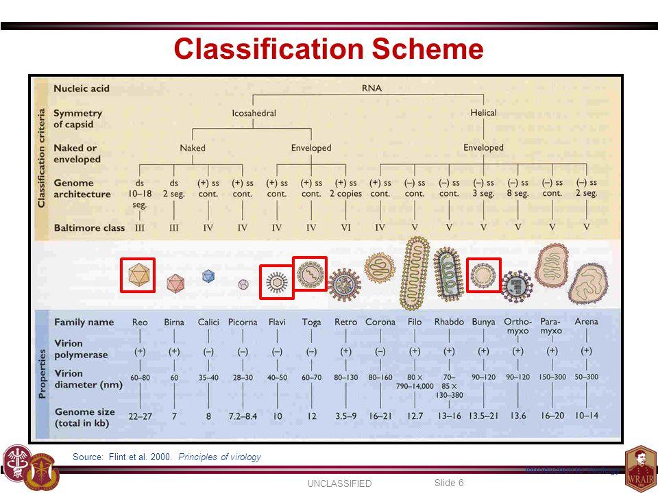 UNCLASSIFIED Slide 6 Introduction to Virology Source: Flint et al.