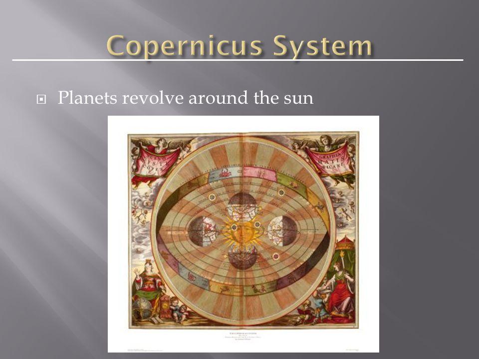  Planets revolve around the sun