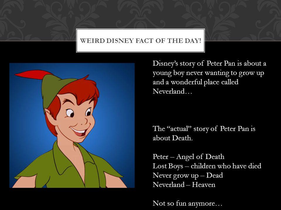 WEIRD DISNEY FACT OF THE DAY.