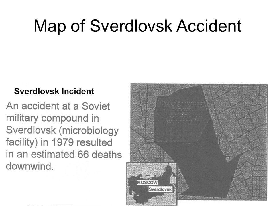 Map of Sverdlovsk Accident