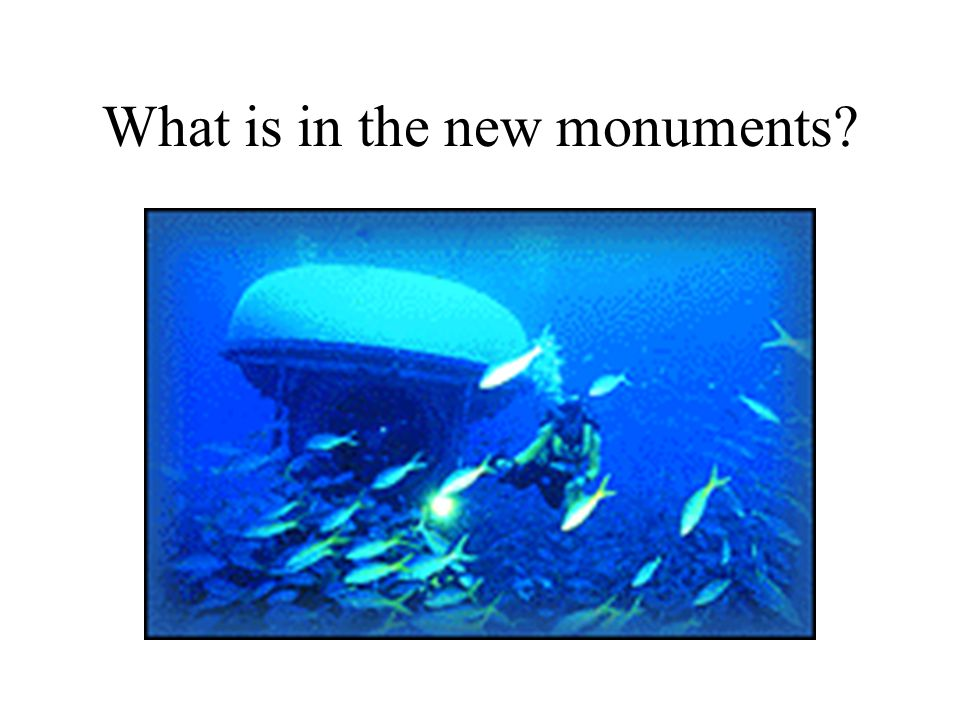 What is in the new monuments?
