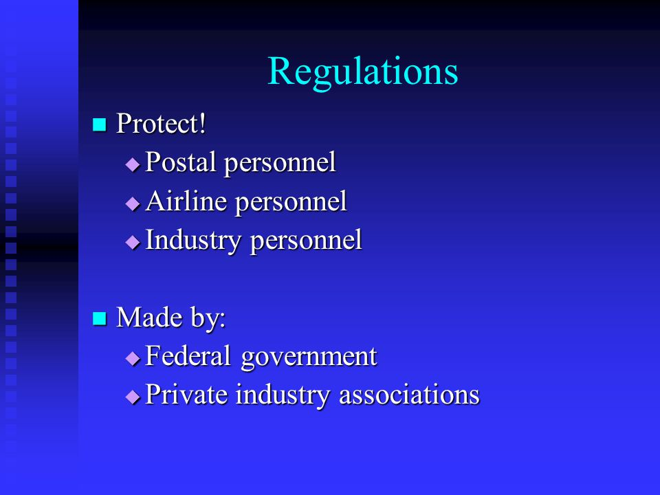 Regulations Protect. Protect.