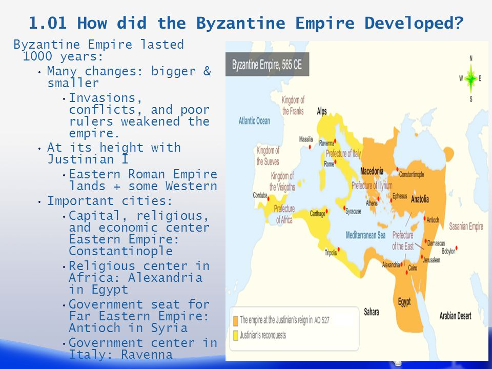 1.01 How did the Byzantine Empire Developed.